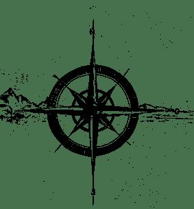 Kompass ohne Hintergrund